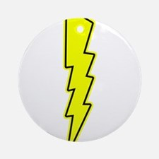 Bolt, Lightning, Electric Ornament (Round)