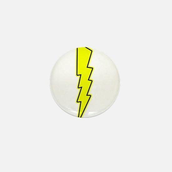 Bolt, Lightning, Electric Mini Button