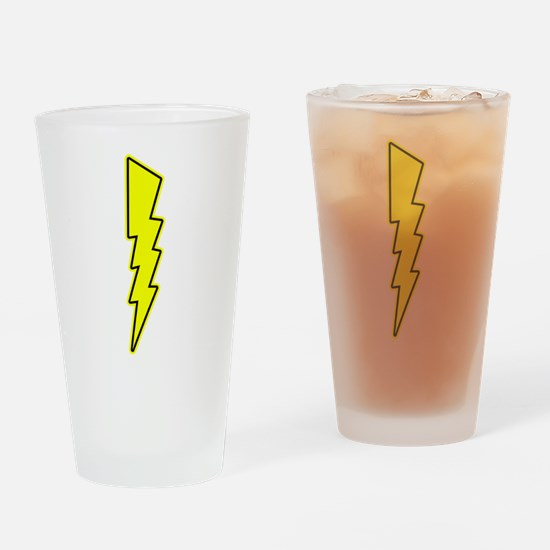 Bolt, Lightning, Electric Drinking Glass