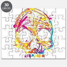 Skull, Paint, Art, Cool Puzzle