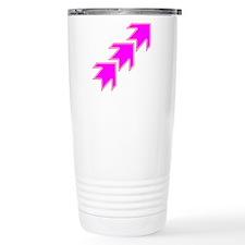 Pink Arrows Travel Mug
