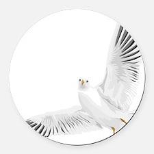 Bird, Dove, Peace Round Car Magnet