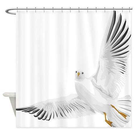 Bird, Dove, Peace Shower Curtain