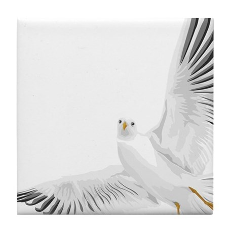 Bird, Dove, Peace Tile Coaster