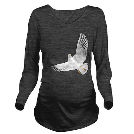 Bird, Dove, Peace Long Sleeve Maternity T-Shirt