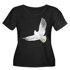 Bird, Dove, Peace Plus Size T-Shirt