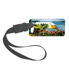 Winslow Homer - Flower Garden an Luggage Tag