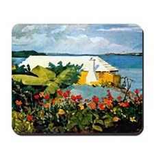Winslow Homer - Flower Garden and Bungal Mousepad