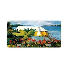 Winslow Homer - Flower Gard Aluminum License Plate