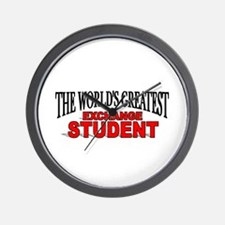 """The World's Greatest Exchange Student"" Wall Clock"