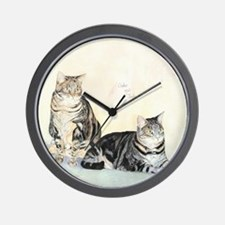 Amber and Jade Wall Clock