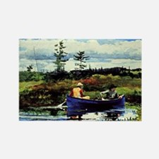 Winslow Homer - The Blue Boat Rectangle Magnet