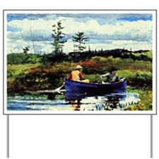 Winslow Homer - The Blue Boat Yard Sign