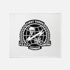 Combat Controller B-W Throw Blanket