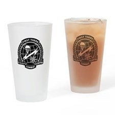 Combat Controller B-W Drinking Glass