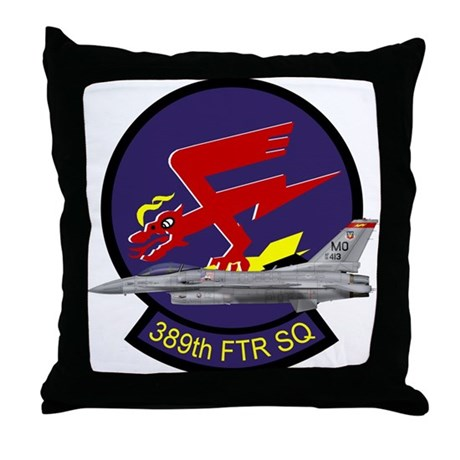 F-16 389th Fighter SQ Throw Pillow