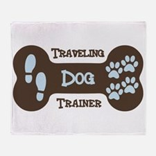 Traveling Dog Trainer Logo Throw Blanket