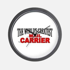 """The World's Greatest Mail Carrier"" Wall Clock"