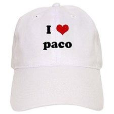 I Love paco Baseball Cap
