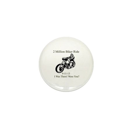 2 Million Bikers Mini Button (10 pack)