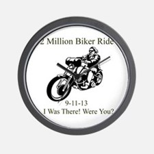 2 Million Bikers Wall Clock
