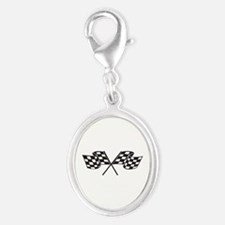 Checkered Flag, Race, Racing, Motorsports Charms