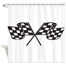 Checkered Flag, Race, Racing, Motorsports Shower C