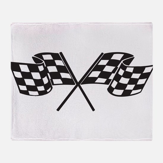 Checkered Flag, Race, Racing, Motorsports Throw Bl