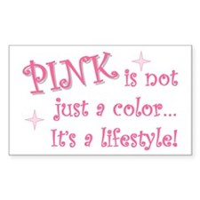 """Pink - not just a color"" Rectangle Decal"