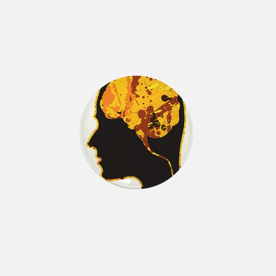 Brain, Mind, Intellect, Intelligence Mini Button