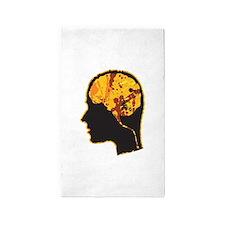 Brain, Mind, Intellect, Intelligence 3'x5' Area Ru