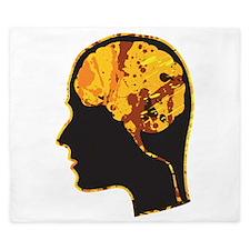 Brain, Mind, Intellect, Intelligence King Duvet