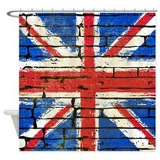 Grunge British Flag Shower Curtain