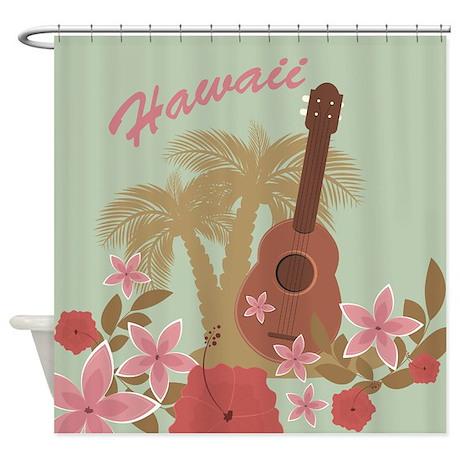 Vintage Hawaiian Shower Curtain