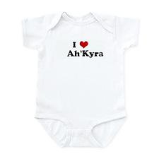 I Love      Ah'Kyra Infant Bodysuit