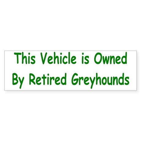 Vehicle Owned Bumper Sticker