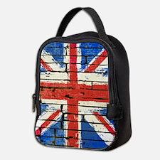 Grunge British Flag Neoprene Lunch Bag