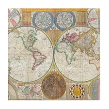 World Map 1794 Tile Coaster
