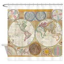 World Map 1794 Shower Curtain