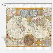 World Map 1794 Shower Curtain