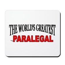 """""""The World's Greatest Paralegal"""" Mousepad"""