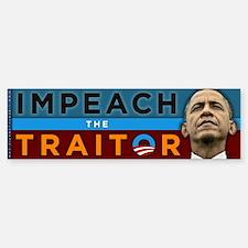 Impeach the Traitor - Obama Sticker (Bumper)