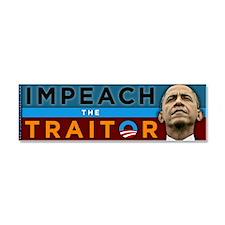 Impeach the Traitor - Obama Car Magnet 10 x 3