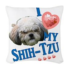 Shih-Tzu Woven Throw Pillow