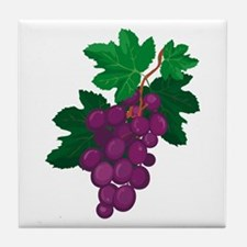 Purple Grapes Tile Coaster
