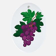 Purple Grapes Oval Ornament