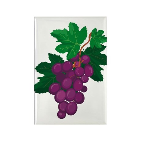 Purple Grapes Rectangle Magnet (10 pack)
