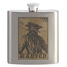 Blackbeard Wanted Poster Flask