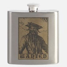 Blackbeard Wanted Poster Flask
