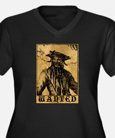 Blackbeard Wanted Poster Plus Size T-Shirt
